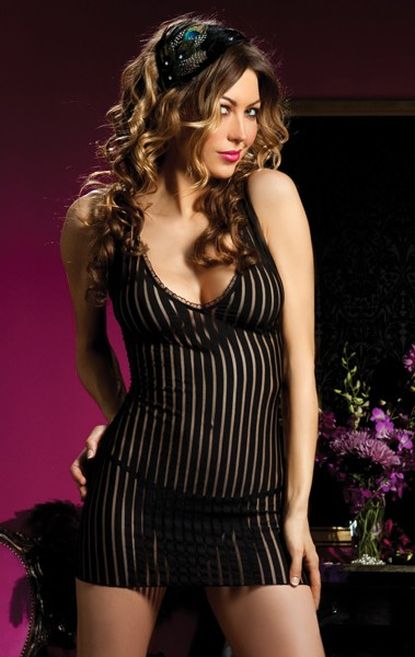 V-Neck Shadow Stripe Babydoll