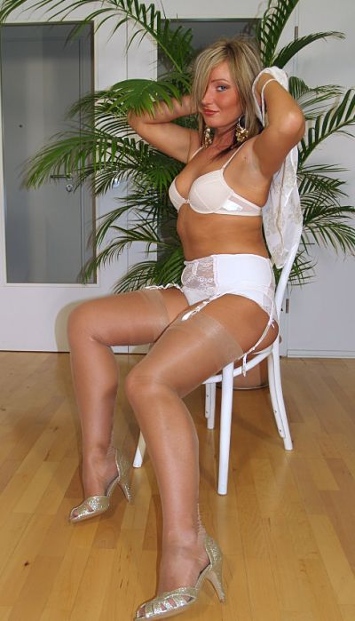 Mature moms lingerie,Moms white silk pushup bra, garter belt, white embroidered bikini bottom